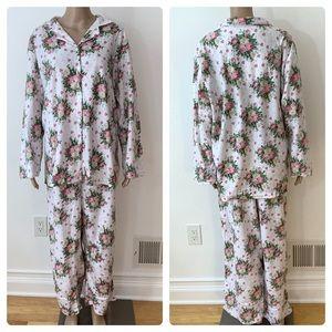 New Plus Size Women's 2 PC Fleece Pajamas Set